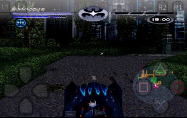 Batman and Robin PSX Drive a Car